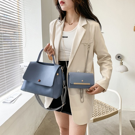 nihaojewelry simple solid color large-capacity cross-body shoulder bag wholesale  NHWH375682's discount tags