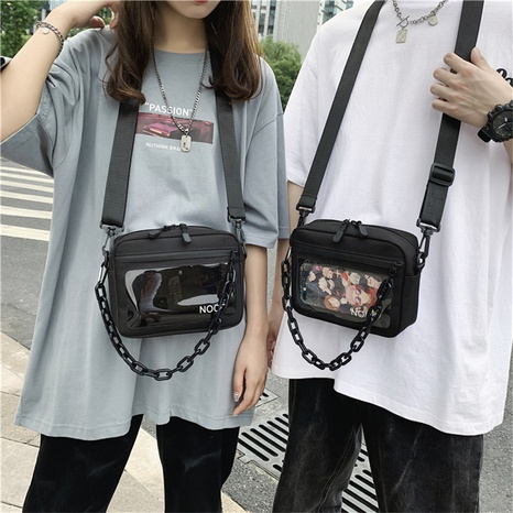 Nihaojewelry wholesale accessories acrylic chain transparent messenger small square bag  NHLH375705's discount tags