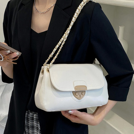 Nihaojewelry wholesale accessories soft leather splicing chain one-shoulder messenger small square bag NHLH375717's discount tags