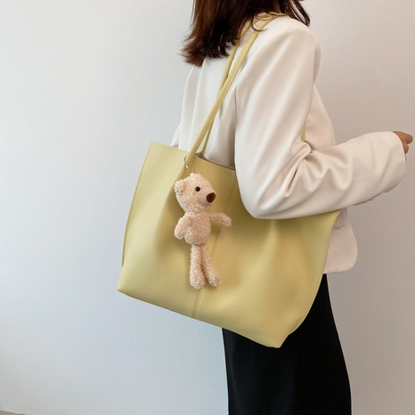 wholesale accessories solid color doll pendant large-capacity tote bag Nihaojewelry NHLH375770's discount tags