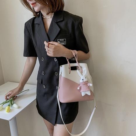 wholesale accessories rabbit pendant bucket diagonal shoulder bag Nihaojewelry NHLH375806's discount tags