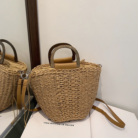 wholesale accessories straw rattan woven bucket bag Nihaojewelry NHJZ375847's discount tags