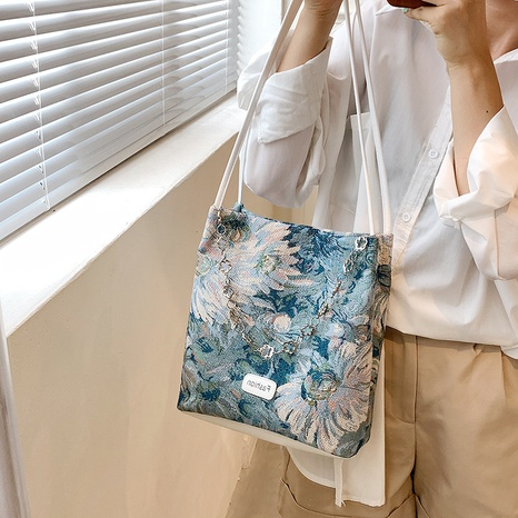 wholesale accessories oil painting metal chain bag Nihaojewelry NHJZ375873's discount tags