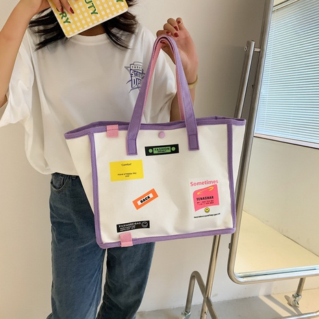 wholesale accessories large-capacity graffiti canvas bag Nihaojewelry NHTG375950's discount tags
