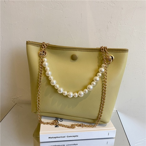 Großhandel einfarbige Perlenkette aus weichem Leder Beuteltasche Nihaojewelry NHXC376010's discount tags