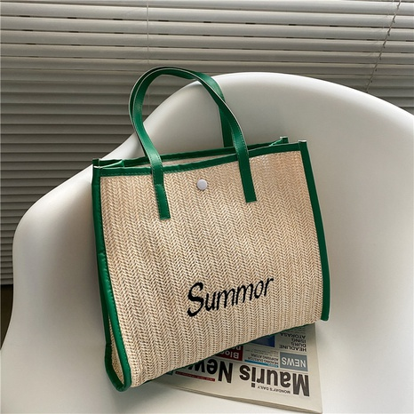 wholesale accessories large-capacity straw tote bag Nihaojewelry NHXC376025's discount tags