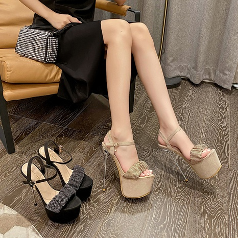 Nihaojewelry super high-heeled rhinestones open-toe sandals Wholesale NHSO376160's discount tags
