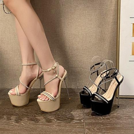 Nihaojewelry super high-heeled platform rhinestones sandals Wholesale NHSO376162's discount tags
