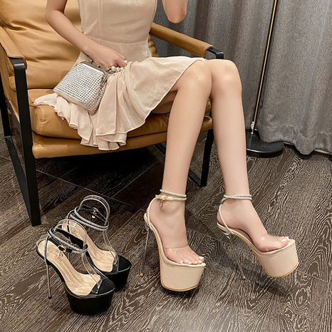 wholesale accessories transparent stiletto sandals Nihaojewelry NHSO376168's discount tags