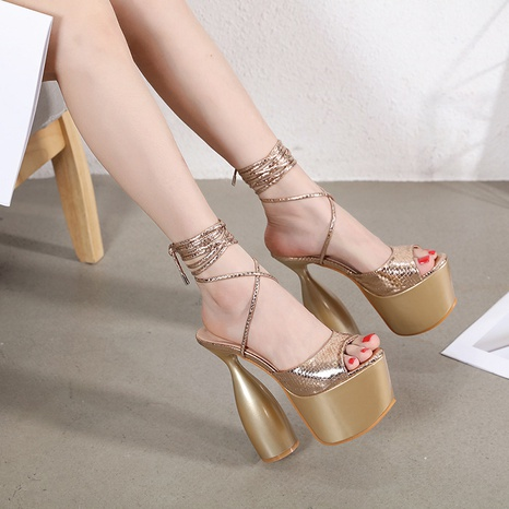 wholesale Rome special-shaped high-heel strap sexy sandals Nihaojewelry NHSO376170's discount tags