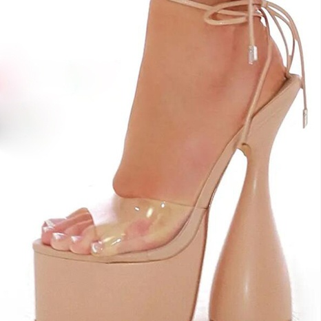 wholesale special-shaped transparent strap high-heel Nihaojewelry NHSO376178's discount tags