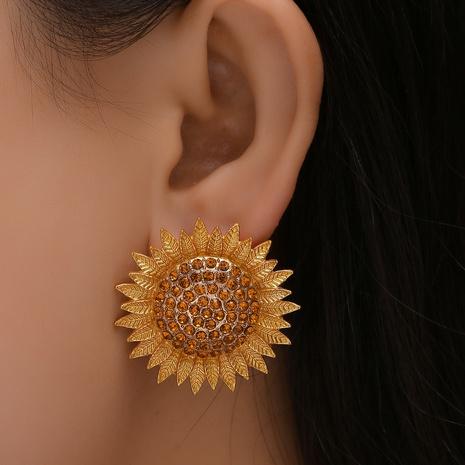Pendientes de diamantes de girasol de moda al por mayor de joyería de Nihaojewelry NHYAO376616's discount tags
