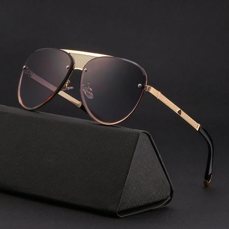 gafas de sol retro con ribete de espejo sin marco NHLMO361806's discount tags