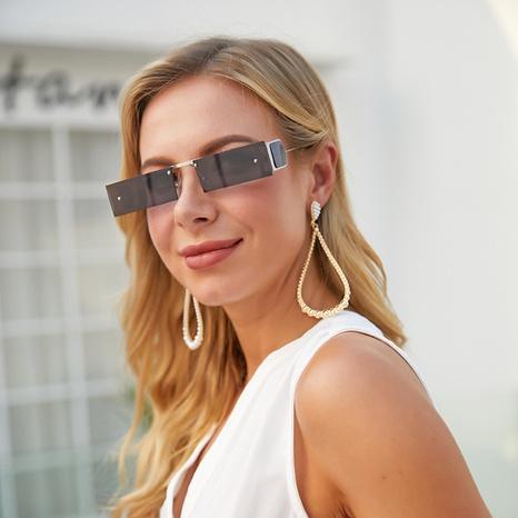 Gafas de sol cuadradas estilo punk de moda con montura pequeña NHLMO361808's discount tags