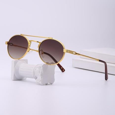 gafas de sol con montura redonda pequeña de estilo retro punk NHLMO361810's discount tags