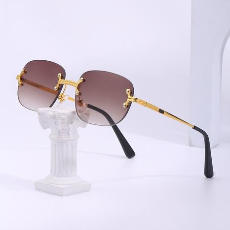 gafas de sol pequeñas sin montura estilo punk NHLMO361812's discount tags