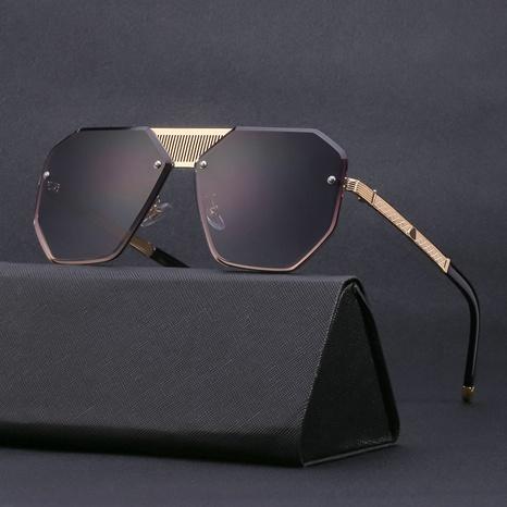 gafas de sol cuadradas sin marco con ribete retro para hombre NHLMO361814's discount tags