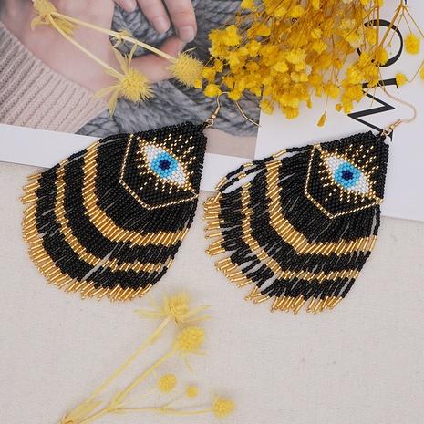 retro miyuki beads hand-woven demon eye earrings  NHYUX361831's discount tags
