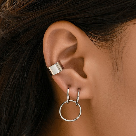 Korean punk personality fashion combination earrings  NHAJ361898's discount tags