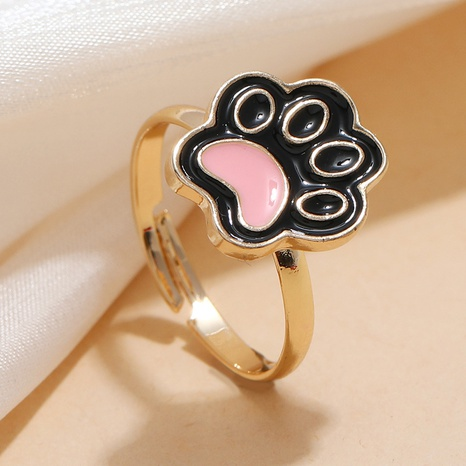 Fashion Drop Oil Cat's Palm Adjustable Ring NHKQ361933's discount tags