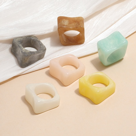 fashion geometric acrylic wide ring wholesale  NHKQ361936's discount tags