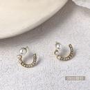 Korean geometric alloy pearl earrings wholesale  NHWB362085