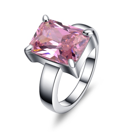 fashion zircon pink crystal ring   NHMO362157's discount tags