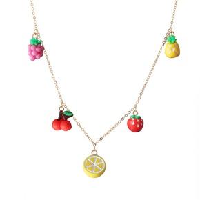 fashion retro fruit necklace  NHMO362158