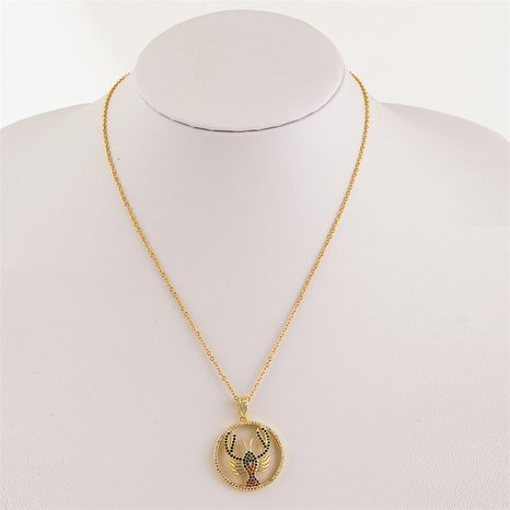 Simple cute animal lobster inlaid zirconium copper necklace  NHLA362254's discount tags