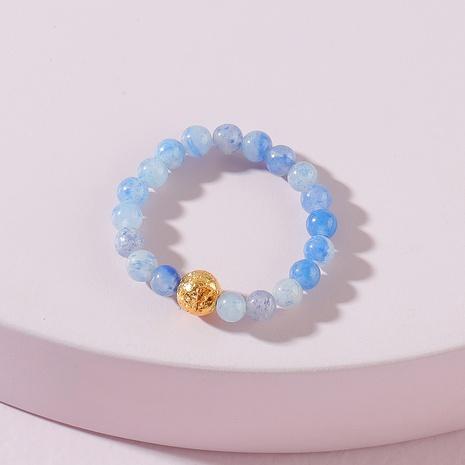 Fashion Amethyst Stone Elastic Ring NHLU362279's discount tags