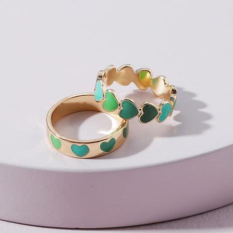 fashion dripping cute heart shape ring set NHLU362301's discount tags