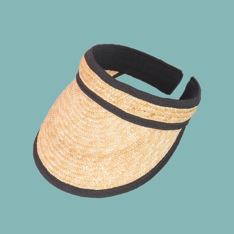 Korean summer fashion edging wheat empty top straw hat  NHAMD362406's discount tags