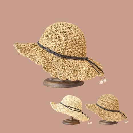 Sombrero de paja de encaje de perlas de moda coreana NHAMD362407's discount tags