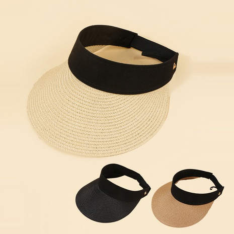 Korean summer fashion breathable empty top straw hat  NHAMD362411's discount tags