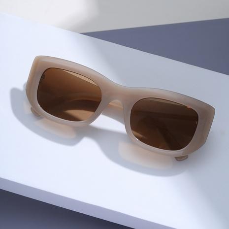 gafas de sol cuadradas con montura grande y estampado de leopardo de carey NHXU362433's discount tags
