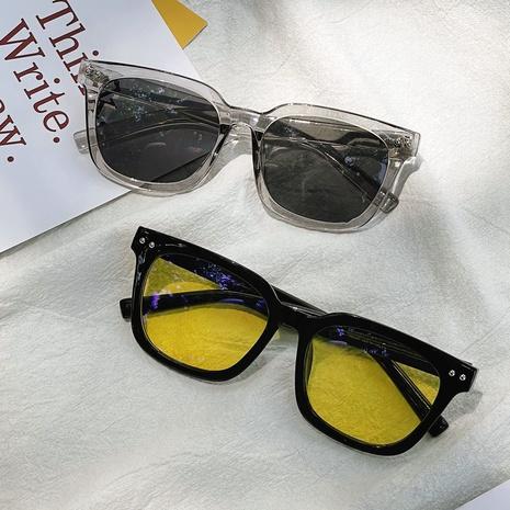 Gafas de sol negras de montura completa de color jalea de moda NHXU362436's discount tags