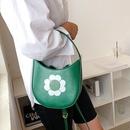 retro flower contrast color printing handbag  NHLH362525