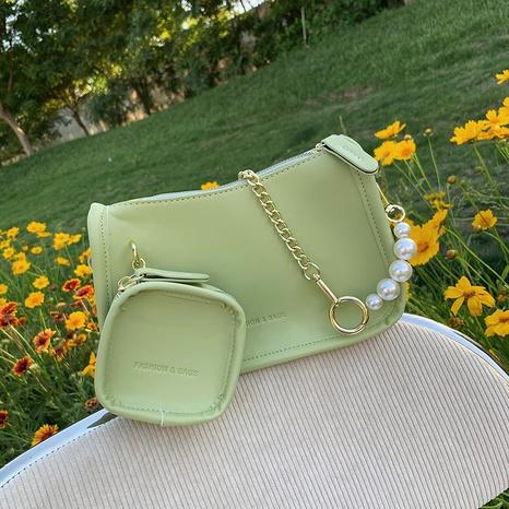 Petit sac carré de messager d'une épaule de chaîne de perles de mode coréenne NHTG362646's discount tags