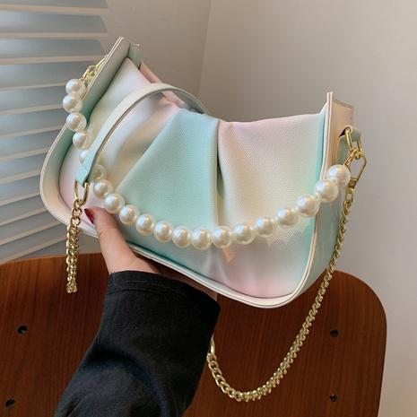 sac nuage à plis en chaîne de perles de couleur dégradée NHTG362654's discount tags