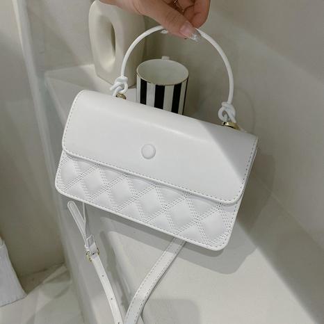 Petit sac carré messager à une seule épaule de couleur unie Lingge NHTG362656's discount tags