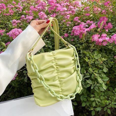 Sac à main de messager d'épaule de pli d'unité centrale de chaîne épaisse acrylique de style coréen NHTG362662's discount tags