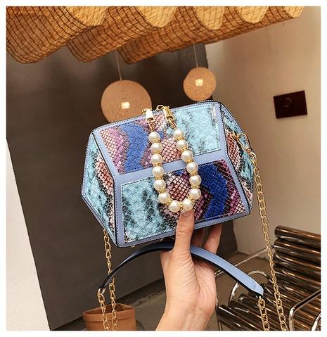 sac en forme de chaîne de messager à une épaule avec motif en relief de perles de mode NHTG362666's discount tags