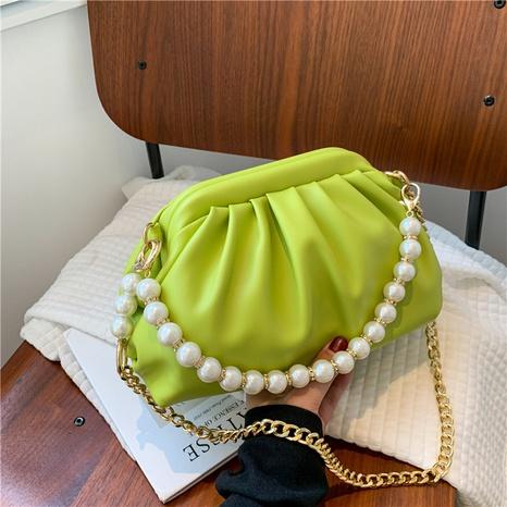 sac de messager à une épaule en chaîne de perles à la mode NHTG362668's discount tags
