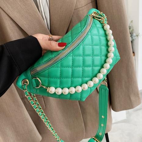 sac de taille d'épaule de losange de chaîne de perles de mode d'été NHTG362673's discount tags