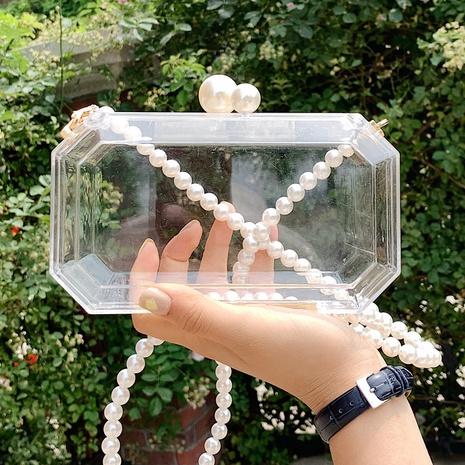 Petit sac carré de messager d'épaule transparent acrylique de mode NHTG362675's discount tags