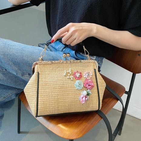 sac tissé en paille de messager d'épaule simple de grande capacité d'été NHTG362677's discount tags