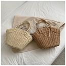 fashion straw woven oneshoulder handbag NHWH362748