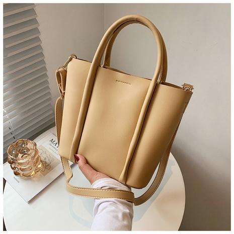 sac à main simple de grande capacité à une épaule de couleur unie NHWH362766's discount tags