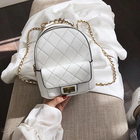 petit sac à dos d'épaule de chaîne de mode rétro NHJZ362850's discount tags