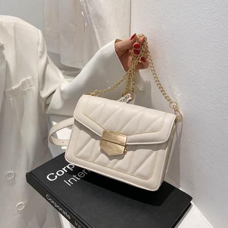 petit sac carré à bandoulière losange en chaîne de mode NHJZ362854's discount tags